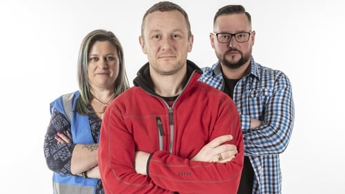 PJ Gallagher and pals on the Big DIY Challenge