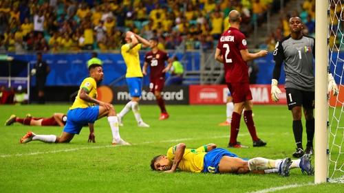 Brazil were held to a surprise scoreless draw