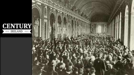 Century Ireland Issue 155 A large crowd gathers to witness the signing of the peace terms in the Hall of Mirrors at Versailles Photo: Woodrow Wilson Presidential Library Archives