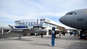 A view of the Airbus display at this year's Paris airshow