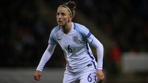 Casey Stoney in action for England back in 2016