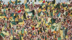 Royal fans at Croke Park during the glory days of the eighties