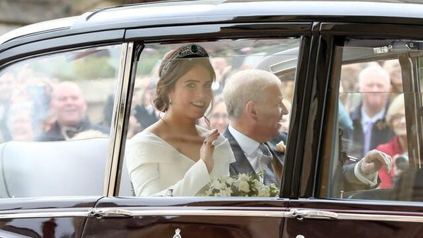Princess Eugenie arrives at her wedding (Gareth Fuller/PA)