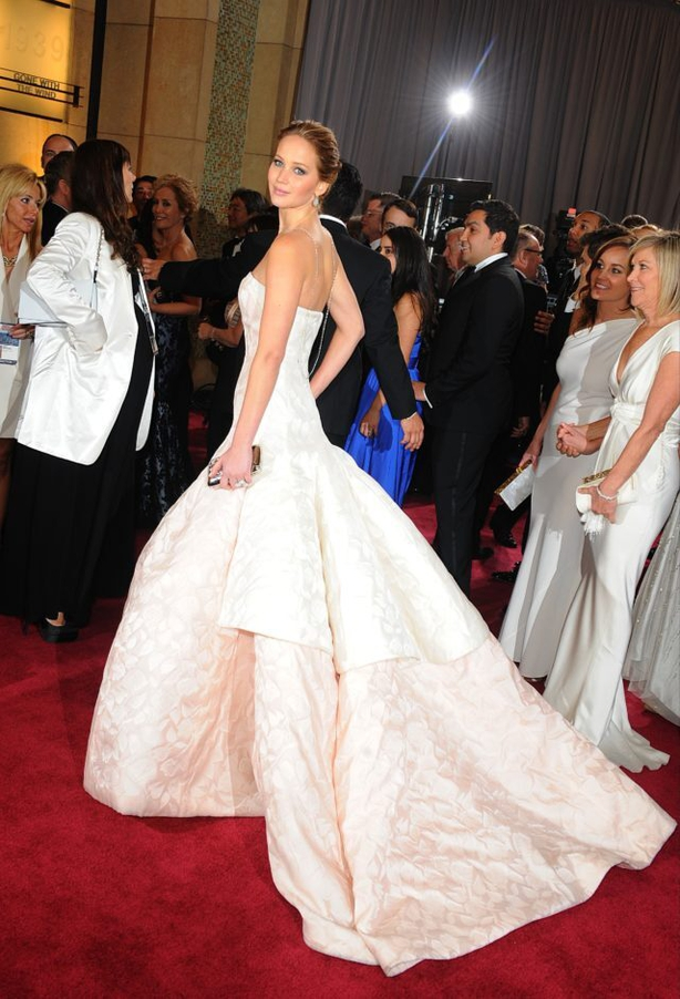 Jennifer Lawrence wearing Dior (Ian West/PA)
