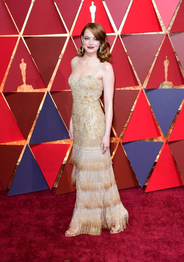 Emma Stone's Givenchy gown (Ian West/PA)