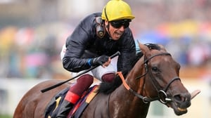 Frankie Dettori steers Crystal Ocean to the Prince of Wales's Stakes