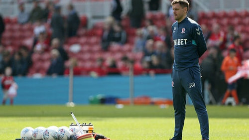 Middlesbrough manager Jonathan Woodgate