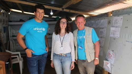 UNICEF Ambassador Donncha O'Callaghan joined Ryan Tubridy in studio to talk about his visit to the Democratic Republic of Congo.