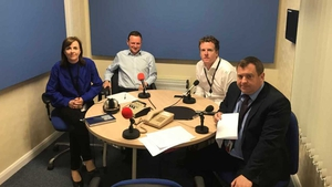 Edel McAllister, David Murphy, Paul Cunningham and Conor McMorrow at Your Politics HQ