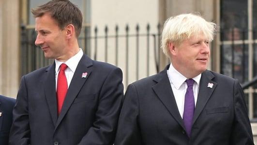 Boris Johnson and Jeremy Hunt to contest UK Tory party leadership