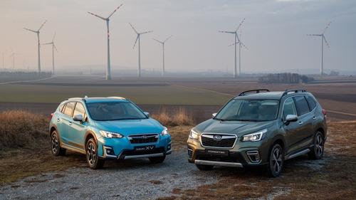 Subaru's new hybrid crossover cars.