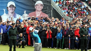 Rory McIlroy playing the 2012 Irish Open at Royal Portrush