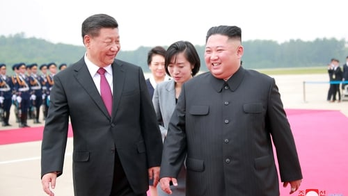 Image result for Xi Jinping visits Kim Jong-un in North Korea