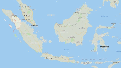 The blaze happened in Binjai in North Sumatra, about 70km west of provincial capital Medan