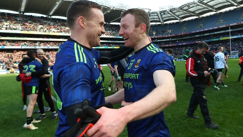 Andy Moran and Colm Boyle both came off the bench in Mayo's League triumph in March