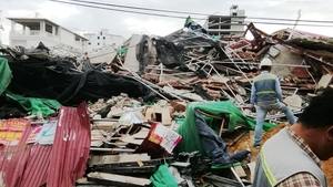 The seven-storey building in the beach town of Sihanoukville collapsed with workers inside