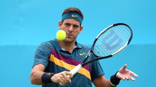 Del Potro out of Wimbledon after re-fracturing kneecap