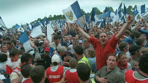 Cavan fans celebrating in 1997; how they would love to be doing likewise tomorrow afternoon