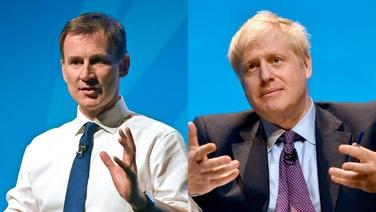 Claidhreacht curtha i leith Boris Johnson ag a chéile comhraice Jeremy Hunt