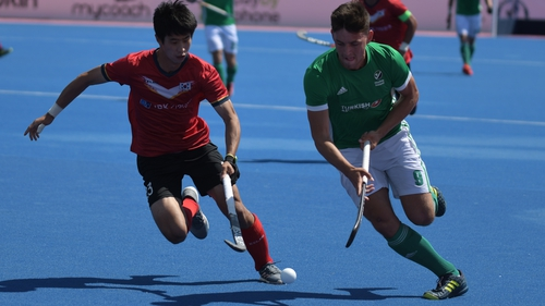 Matthew Nelson opened the scoring for Ireland against South Korea