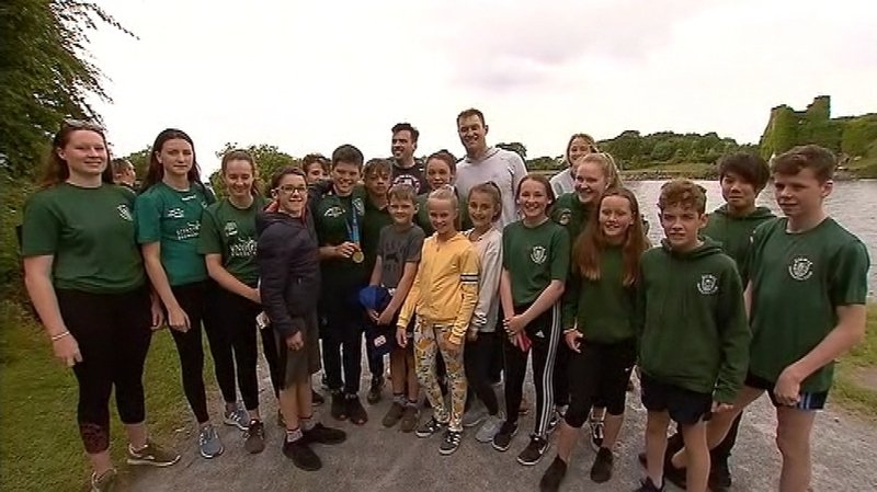 Hundreds turn out for Galway mental health charity swim