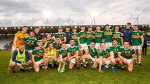 Kerry players celebrate their latest Munster triumph