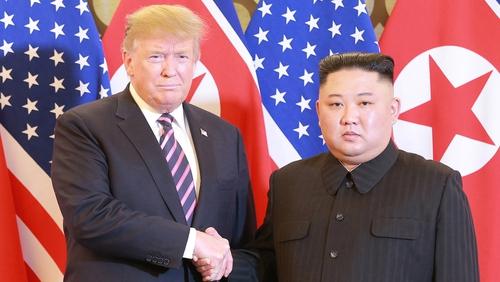 Donald Trump and Kim Jong-un at their failed February summit in Hanoi