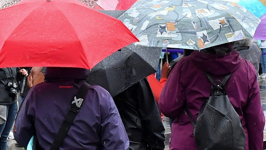 Rainfall warning in effect, ahead of warmer weather