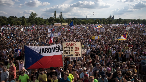Protesters in the Czech Republic call for PM to resign