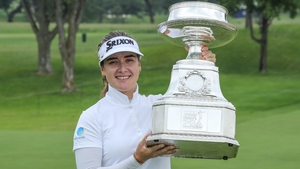 Hannah Green poses with her trophy