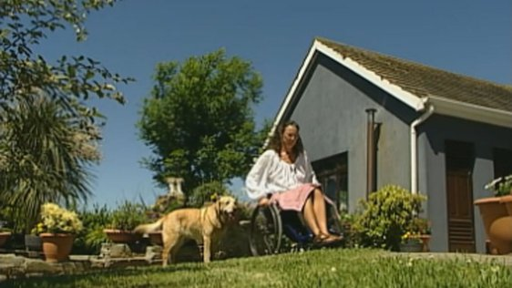 Elizabeth Walsh and service dog, County Cork (2004)
