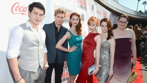 The cast of the Lizzie Bennet Diaries in the spotlight. Photo: Getty Images