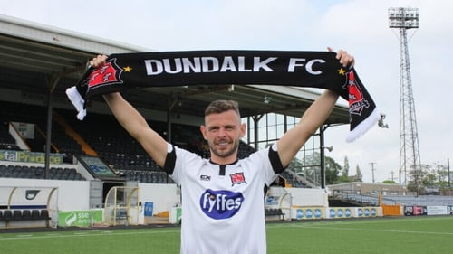 Andy Boyle back at Oriel Park this afternoon