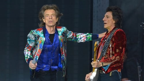 Rolling Stones' Mick Jagger and Ronnie Wood