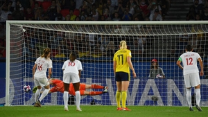 Hedvig Lindahl saves the penalty that put Sweden through