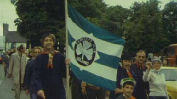 Dutch walkers in the opening parade of the Castlebar International Walking Festival (1979)