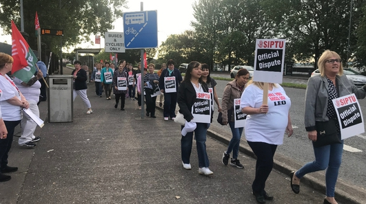 Significant disruption warned over health support staff strike