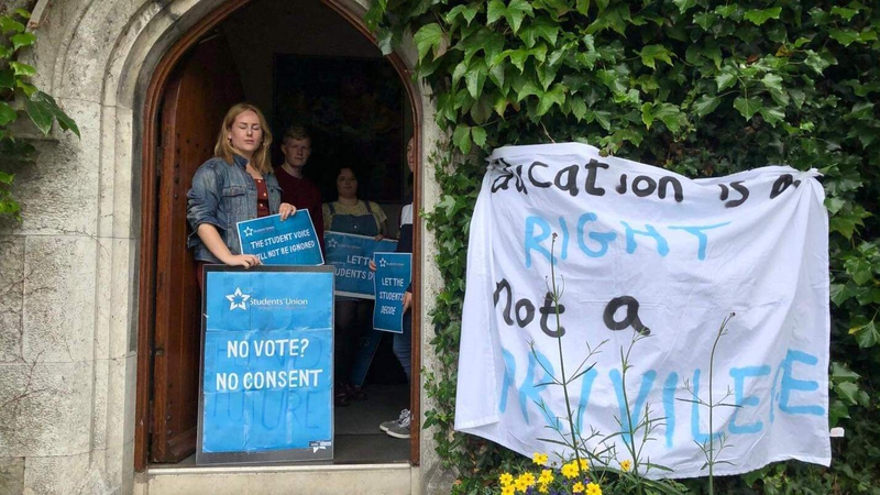 UCC students stage sit-in over plans to increase fee