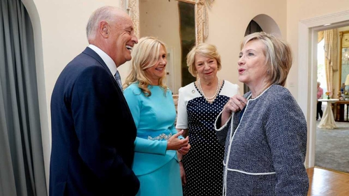 Hillary Clinton is guest of honour at Barretstown this evening