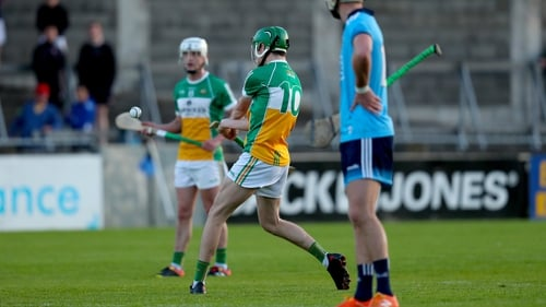 John Murphy seals the victory for Offaly with the final puck of the game at Parnell Park
