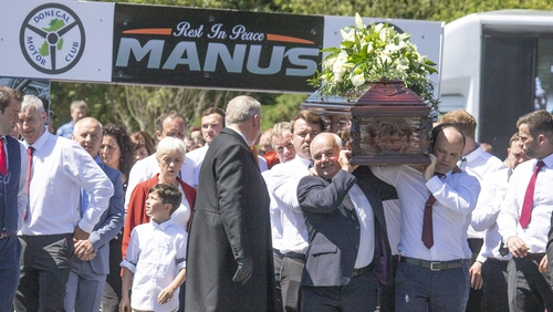 Huge crowds turned out to pay their respects to Manus Kelly