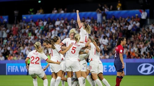 England will face either USA or France in the semi-finals
