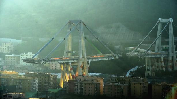 The original bridge in Genoa