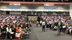 New Irish citizens at the WIT Arena in Waterford