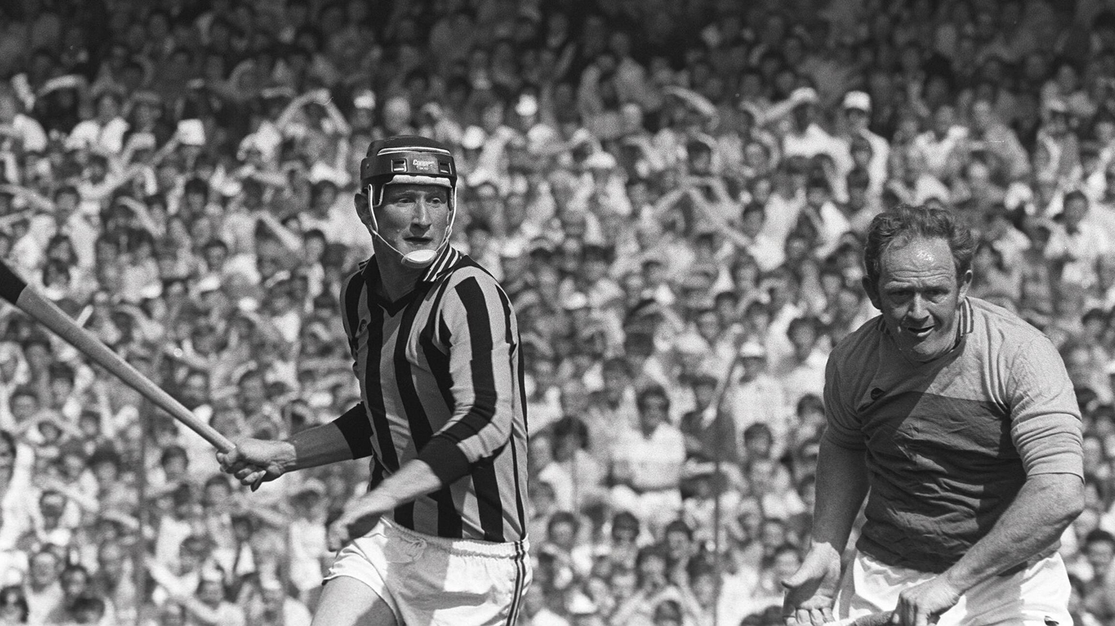 Image - Brian Cody (L) and Tony Doran during the 1983 Leinster semi-final