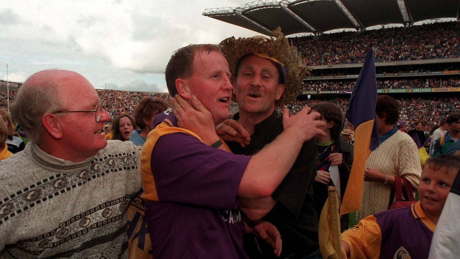 Image - Tom Dempsey is congratulated by fans after Wexford's Leinster final victory in 1997