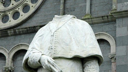 The statue stands just metres from the main entrance to the cathedral in Thurles