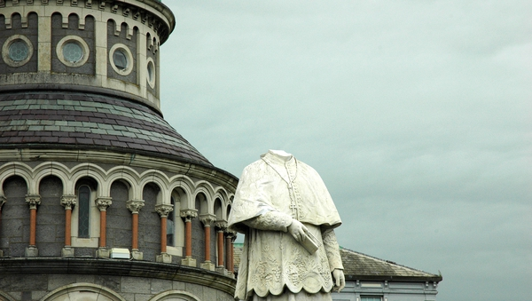 The statue stands just metres from the main entrance to Thurles Cathedral