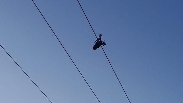Drone Dublin ESB cables