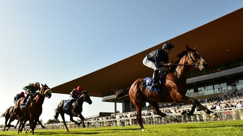 A first Irish Derby in front of the new stand at the Curragh